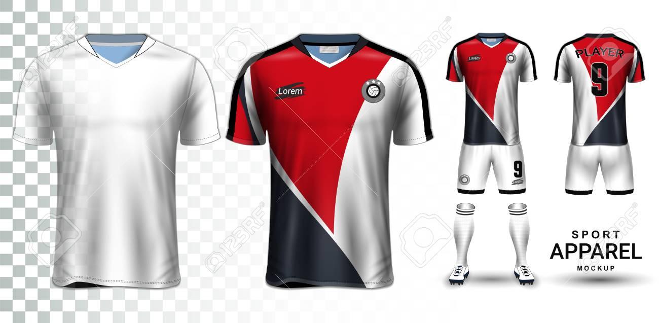 Soccer Jersey and Football Kit Presentation Mockup, The T-shirt