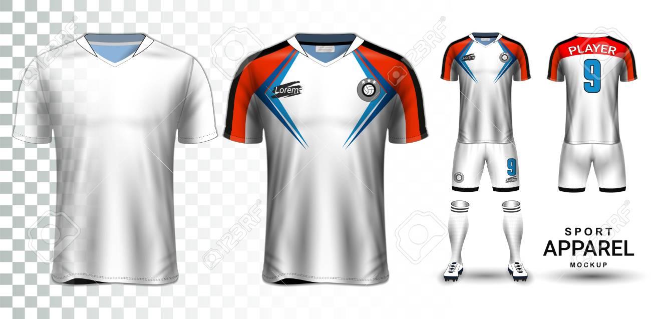 63e3f7ddba1 Soccer Jersey And Football Kit Presentation Mockup