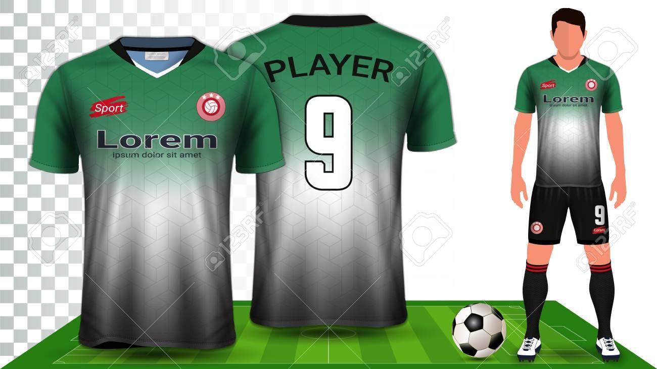 Soccer Jersey, Sport Shirt or Football Kit Uniform Presentation