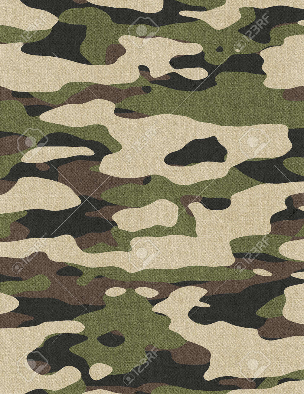 Pixelated Military Camouflage Print Template. - 169697601