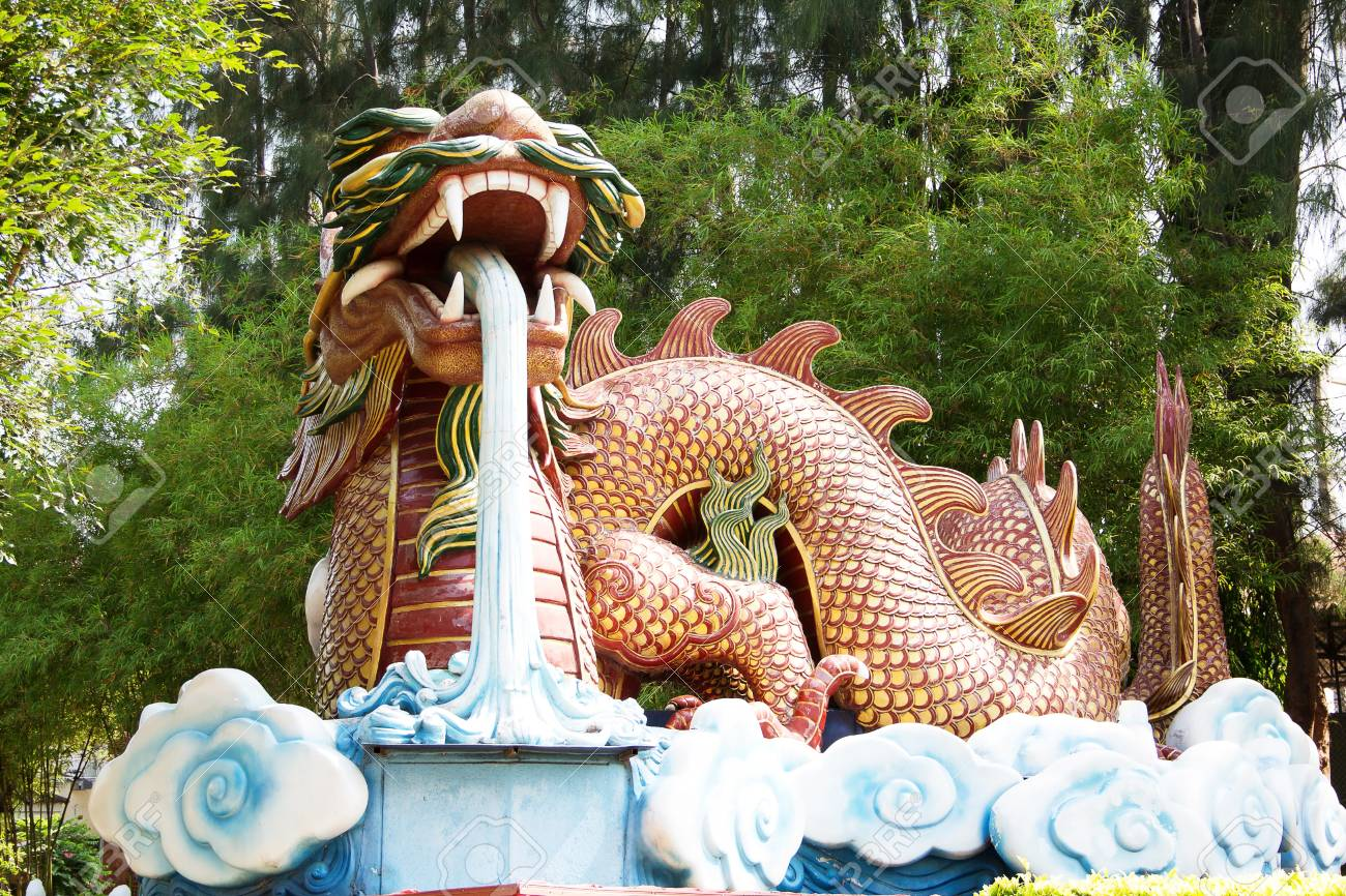 big dragon is symbolism and China style Stock Photo - 13813245