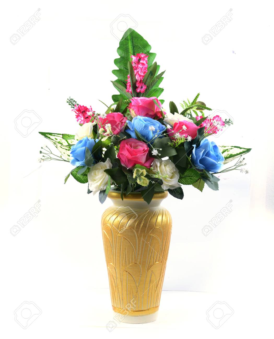 flowers in vase isolated Stock Photo - 23112170