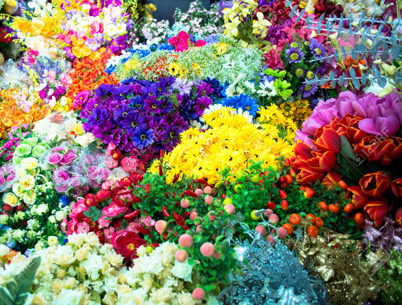Various types of flowers