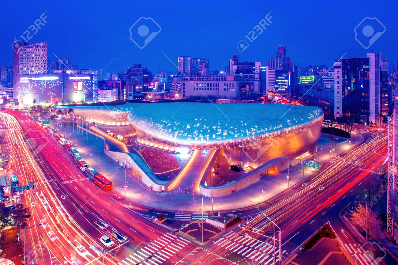 Seoul South Korea February 4 Dongdaemun Design Plaza Is