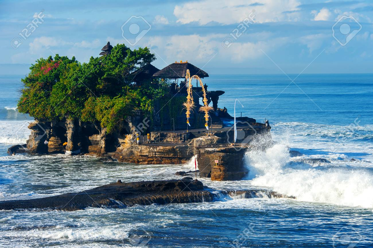 Tanah Lot Temple In Bali Island Indonesia Stock Photo Picture And