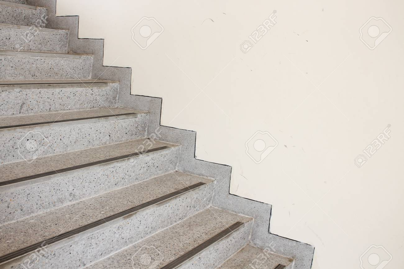 Charmant Close Up Stairs Terrazzo,marble Floor In Sideways Of A Wall Stock Photo    72336248