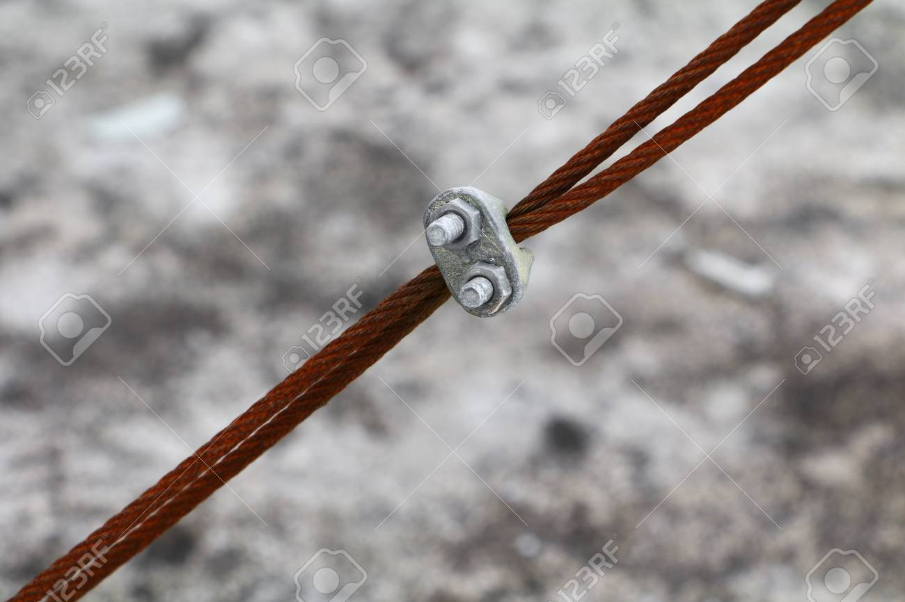 Wire Rope Clip Old, Connection Of Sling Cable Select Focus With ...