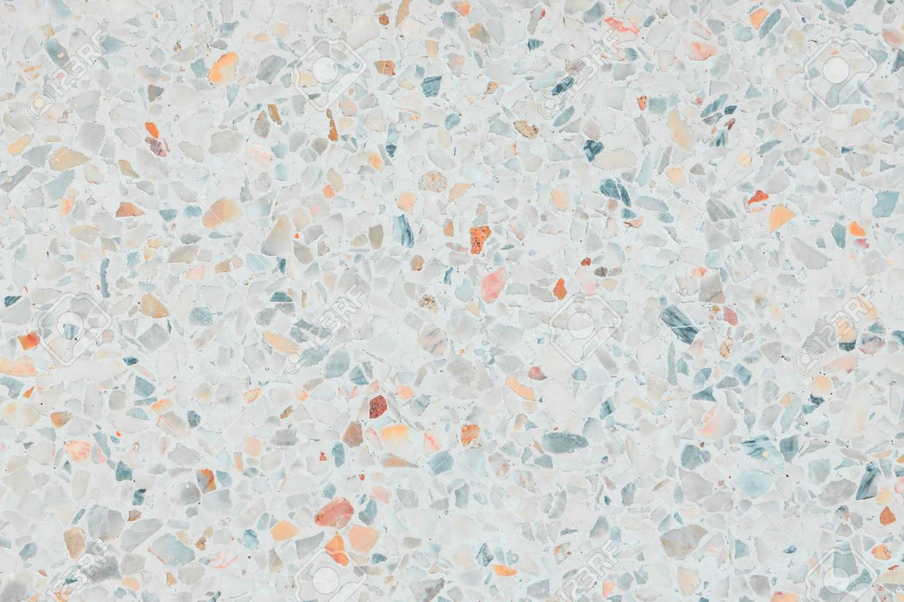 Terrazzo Floor Texture Old Polished Stone Pattern Wall And Color