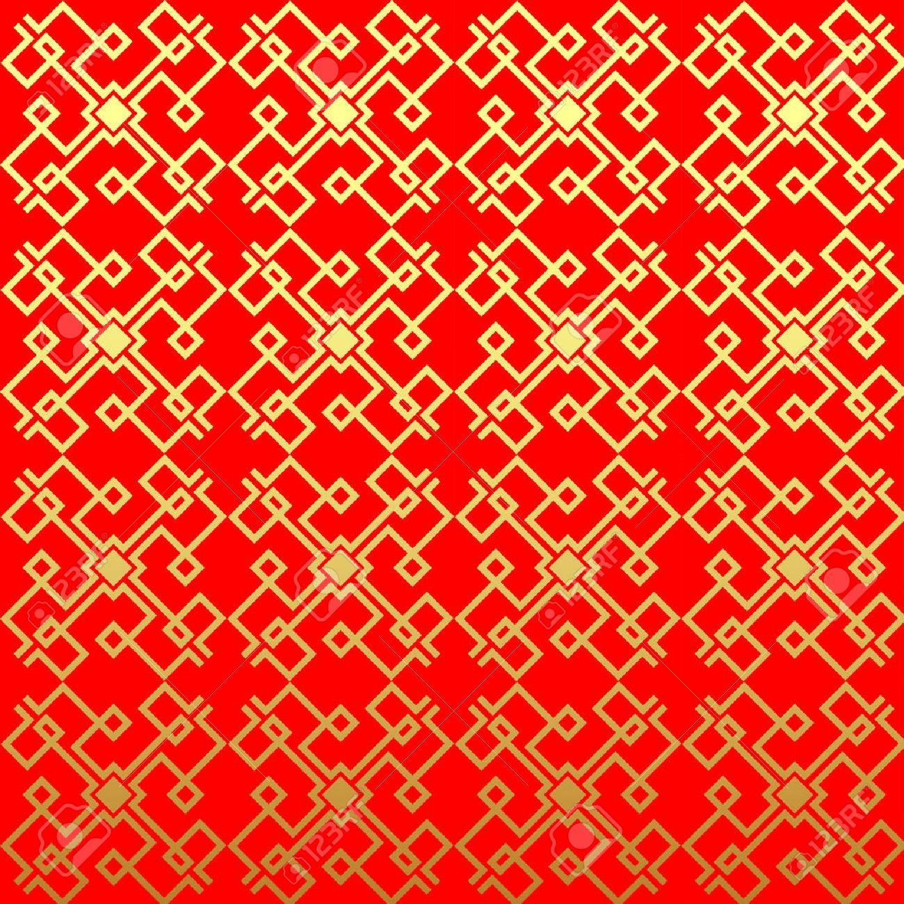 Vecteur Chinois Pattern. Sans Fin Texture Peut être Utilisé Pour Le ...