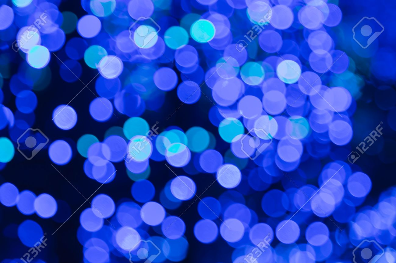 super popular 5ce85 10a40 Blurred bokeh blue christmas lights background