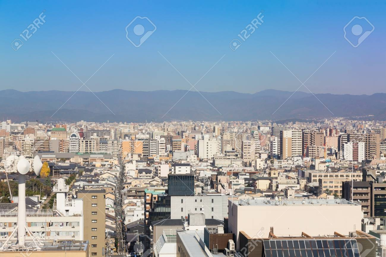 5b78efad846 Kobe Cityscape Downtown With Mountain Background