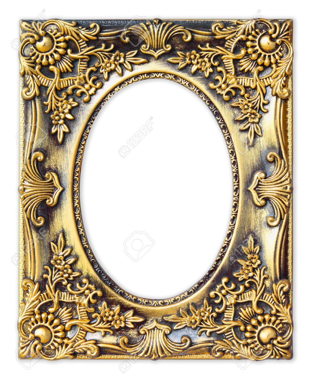 Antique frame Gold Stock Photo The Old Antique Gold Frame On The White Background Perry Hopf Antique Framing The Old Antique Gold Frame On The White Background Stock Photo