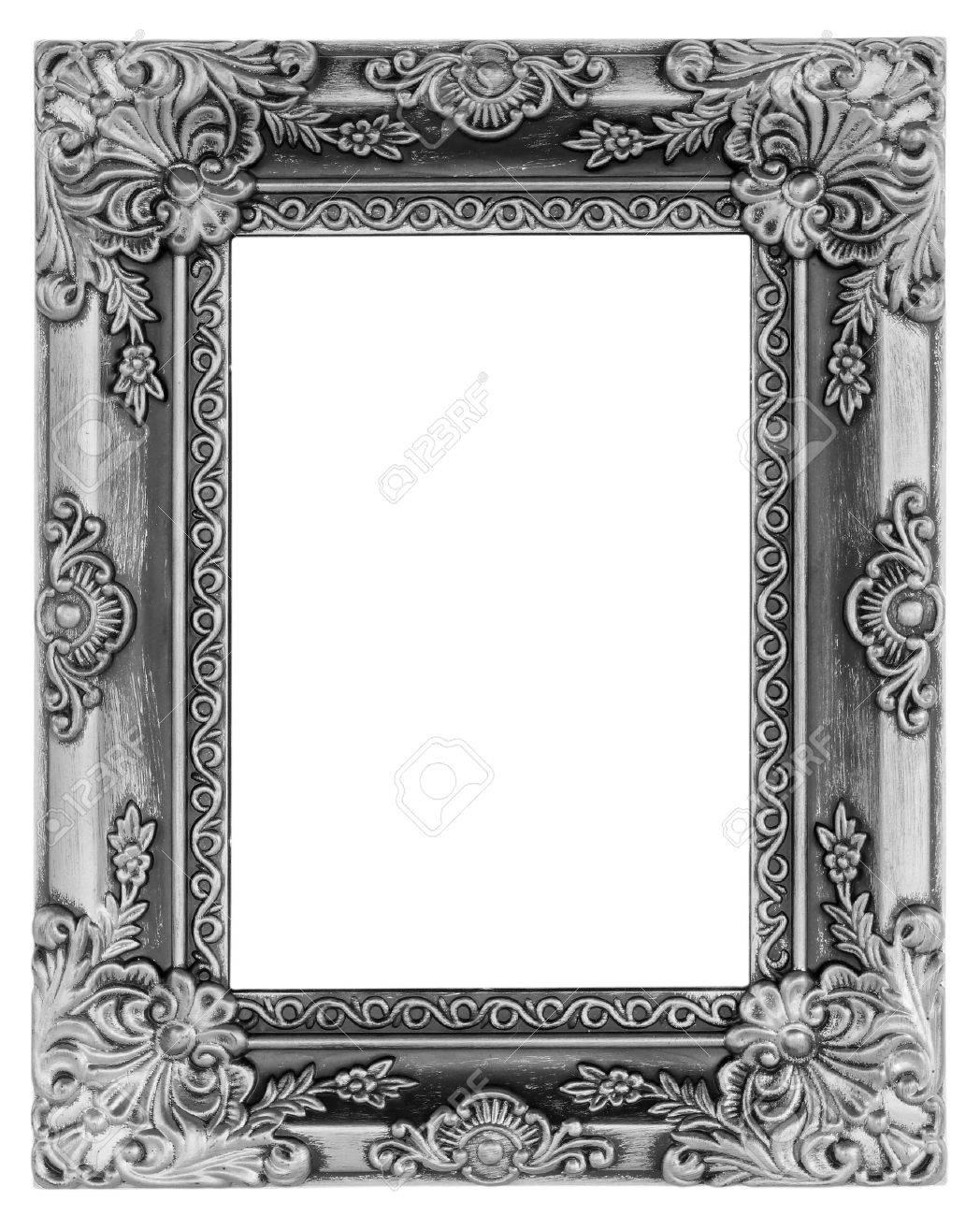 antique frame. Stock Photo - The Antique Frame On White Background E