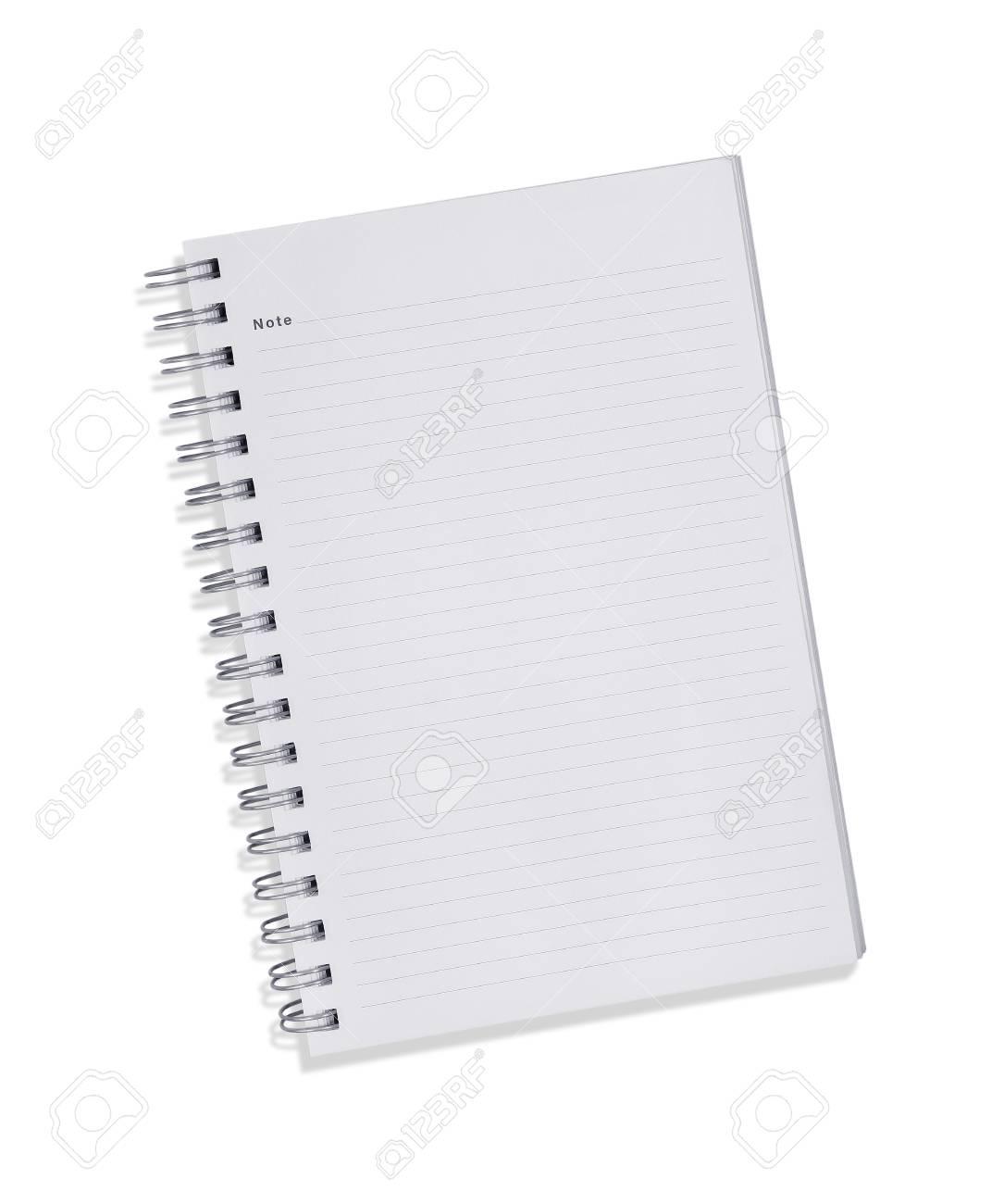 Promotion de ventes meilleur prix remise spéciale Blank carnet de notes avec trois trous pour reliure à anneaux isolé sur  blanc.