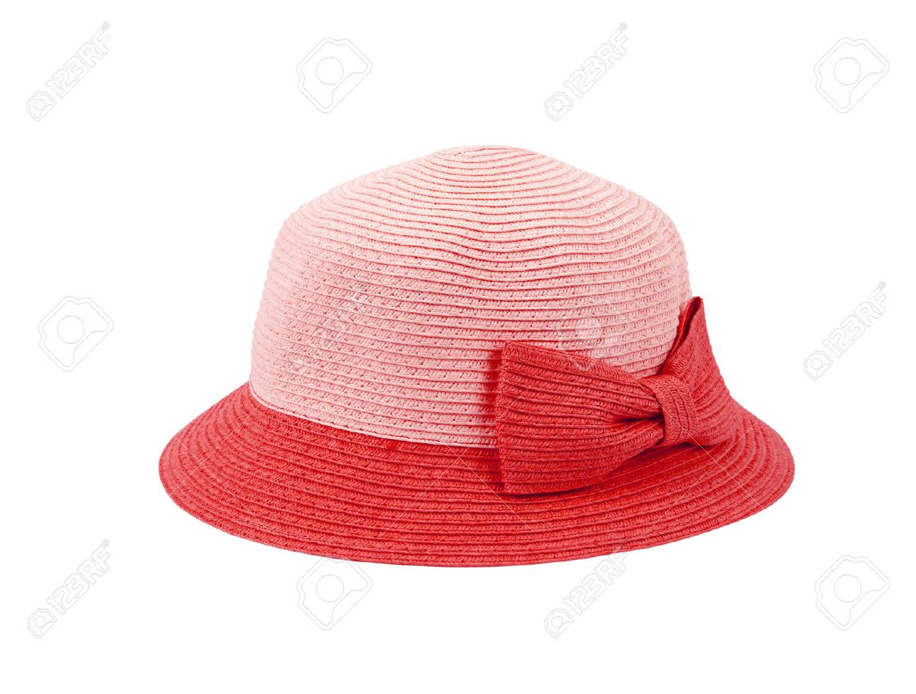 red straw hat for ladies on a white background Stock Photo - 33590490 9d71c962bde