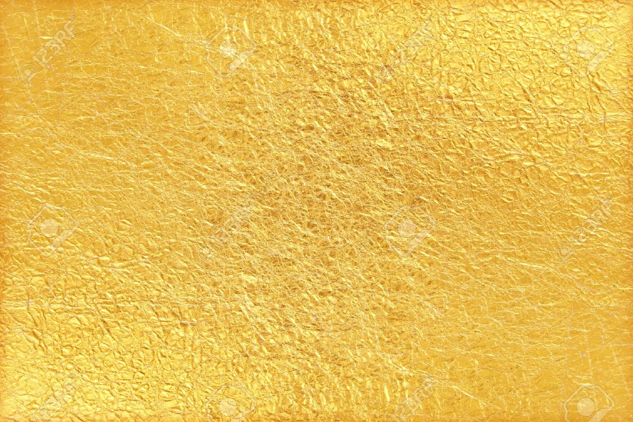 Shiny yellow leaf gold foil texture background - 50552669