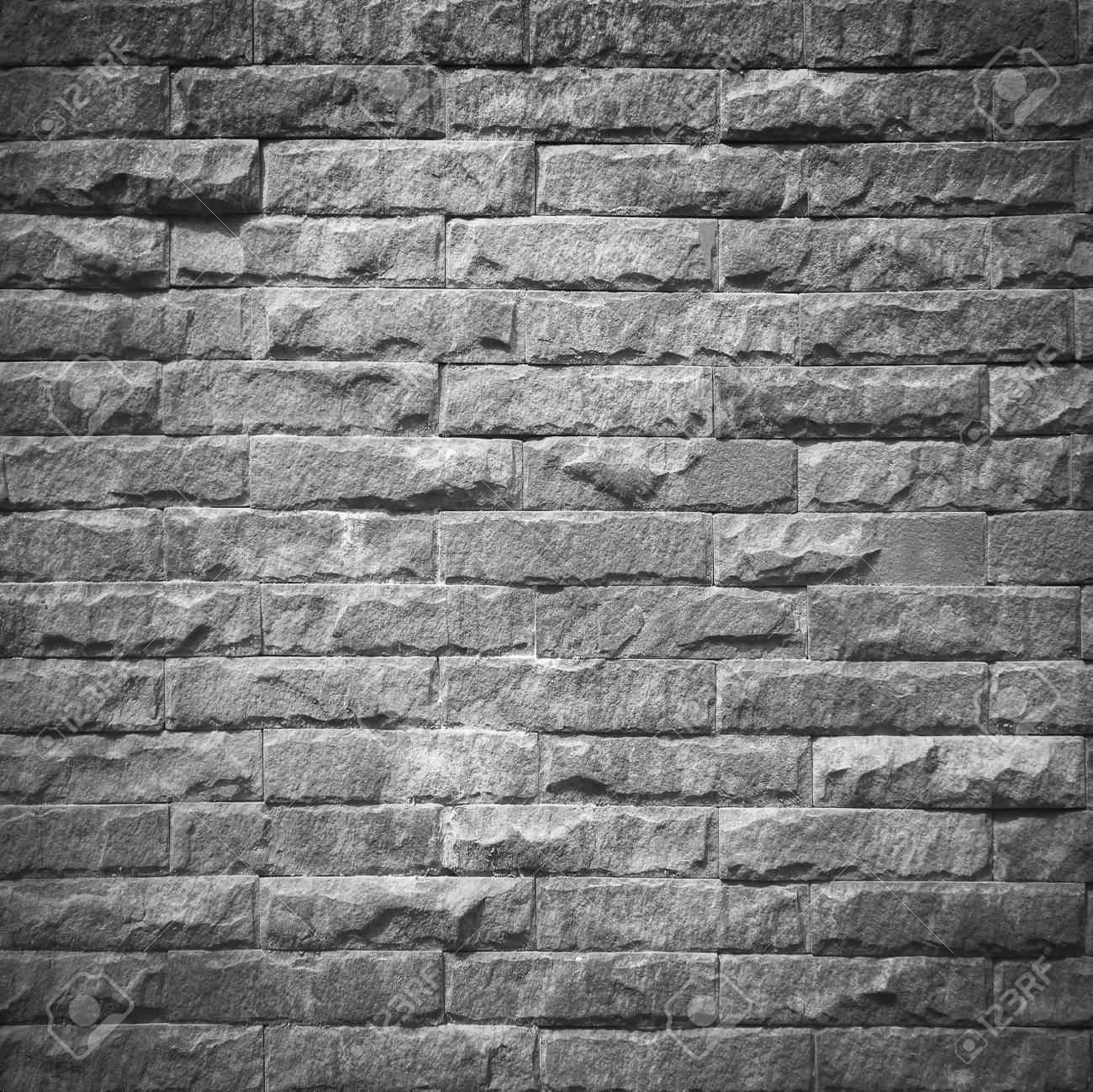 Pattern Of Decorative Black Slate Stone Wall Surface
