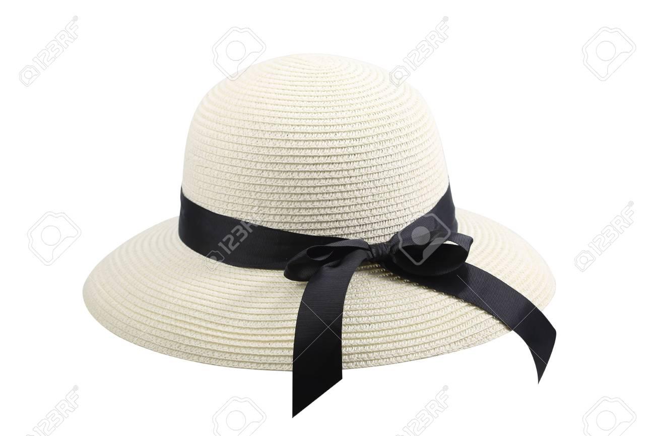 Feminine Women s Straw Hat With The Black Ribbon 97e522c464b
