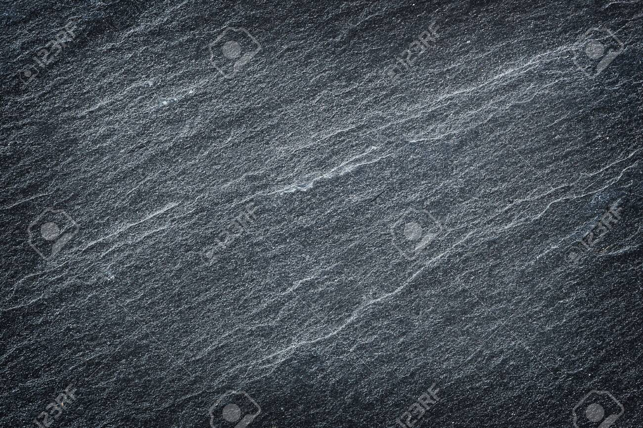 Dark grey black slate stone abstract background or texture. - 121436169