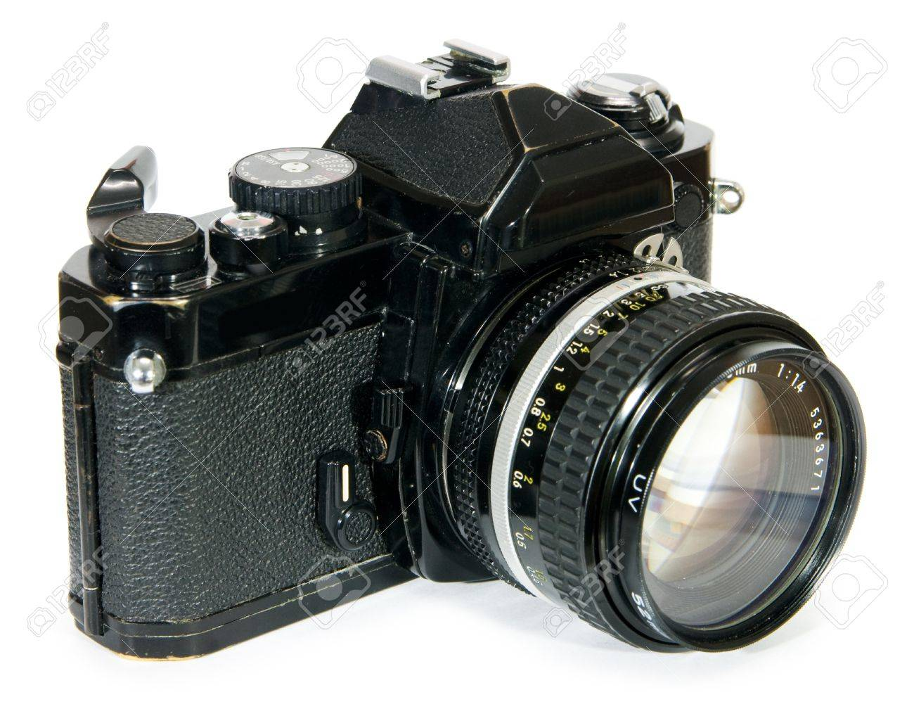 old and classic vintage 35mm manual focus film slr camera stock rh 123rf com minolta manual focus slr cameras 35mm slr manual focus camera