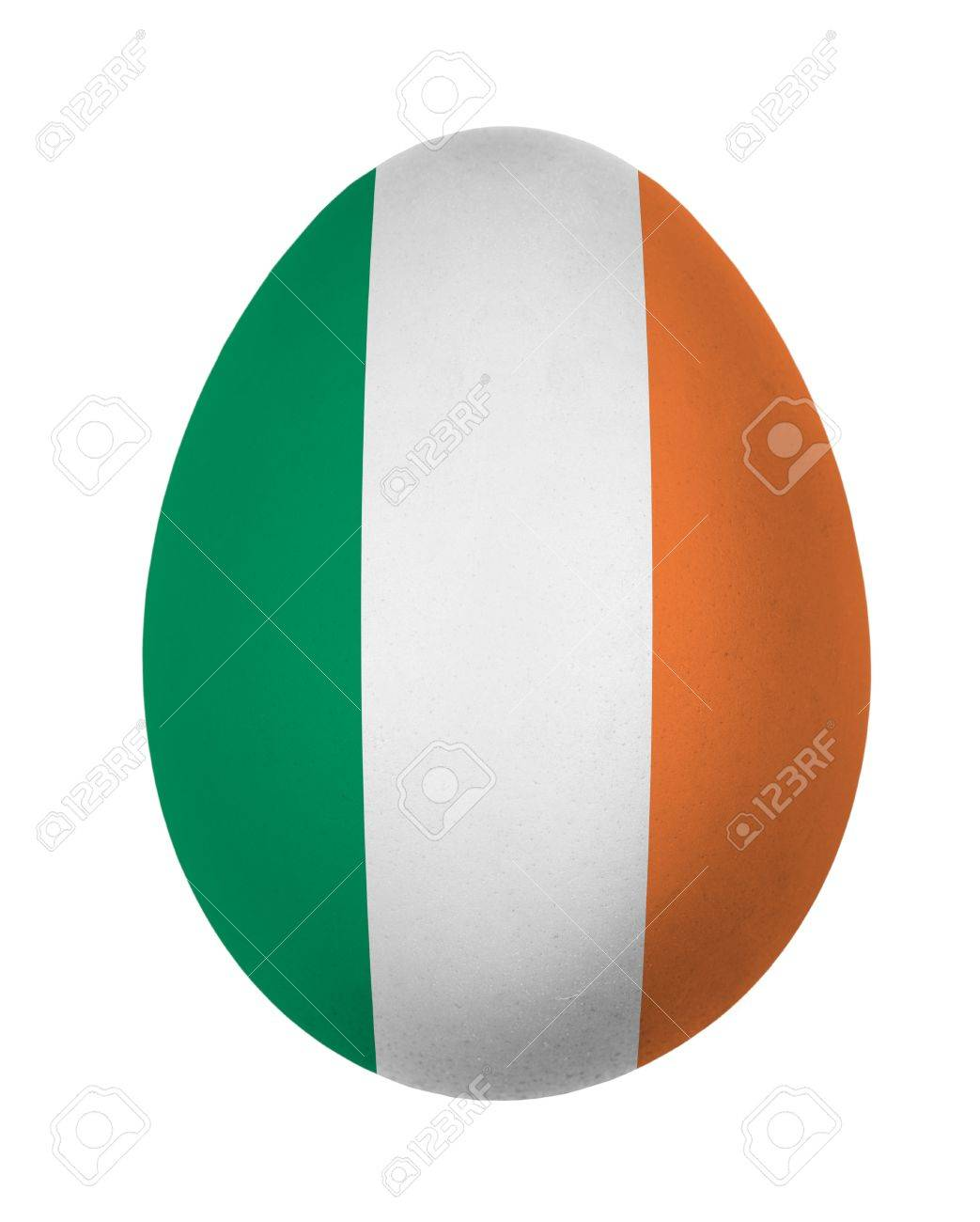 Colorful Ireland Flag Easter Egg Isolated On White Background Stock Photo Picture And Royalty Free Image Image 17524908