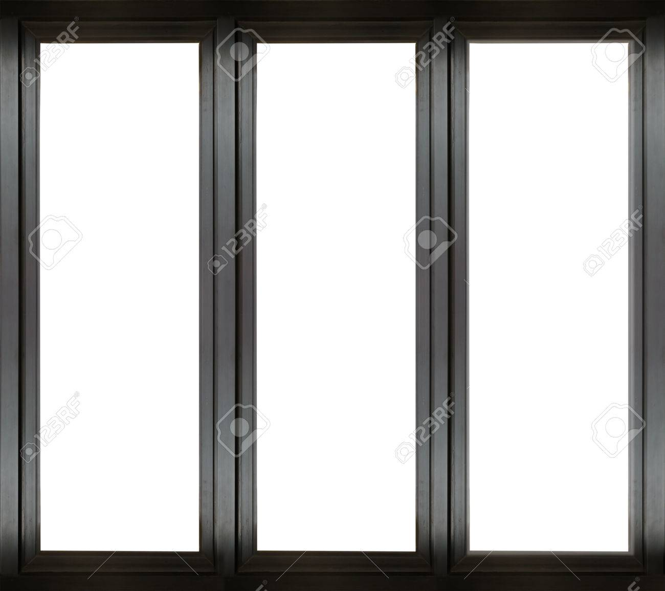 White window frame - Black Metal Window Frame Stock Photo 31922671