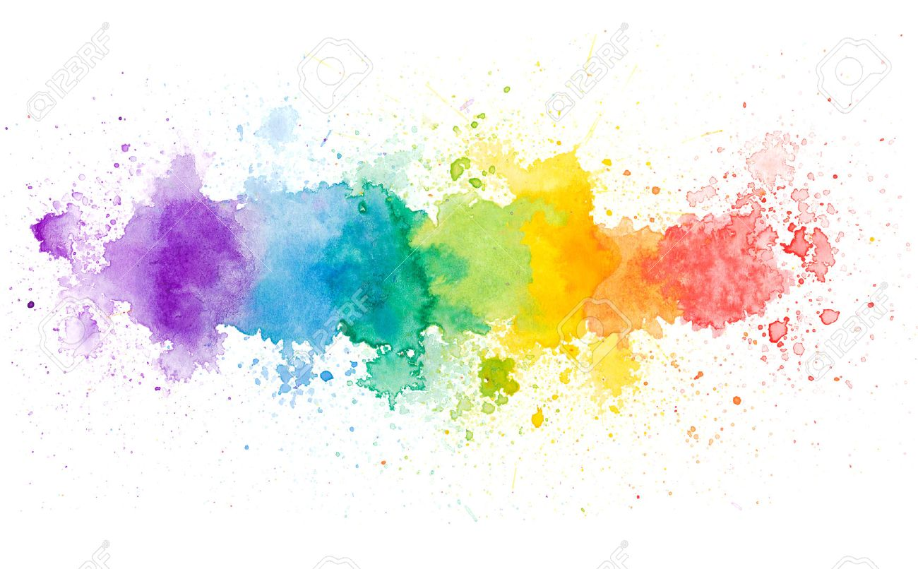 Copy space in colorful water color background - 44062060