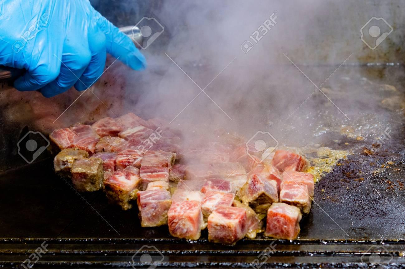 huge inventory designer fashion new images of Grilled Kobe Beef Cube, Kobe beef teppanyaki Steak