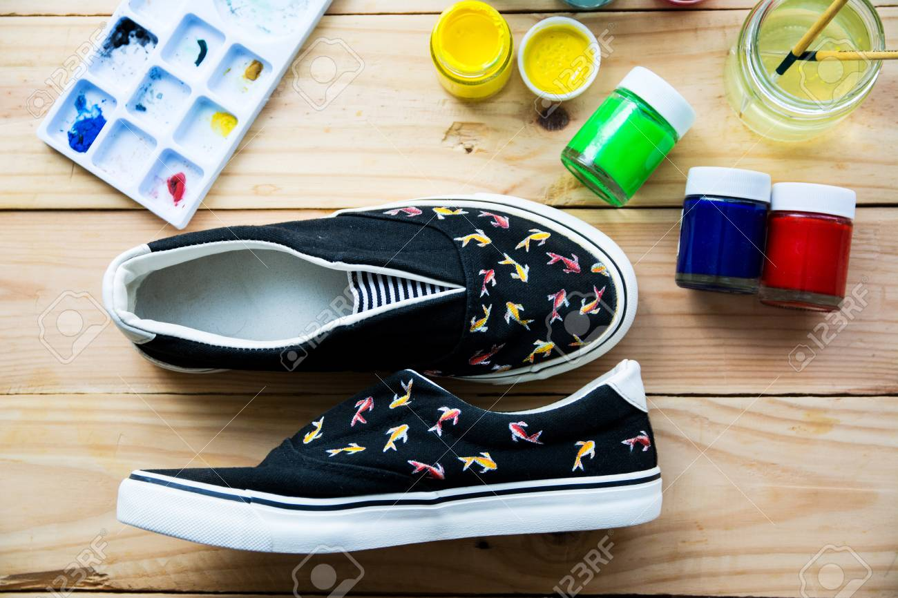 Hand Made Painted Canvas Shoes With