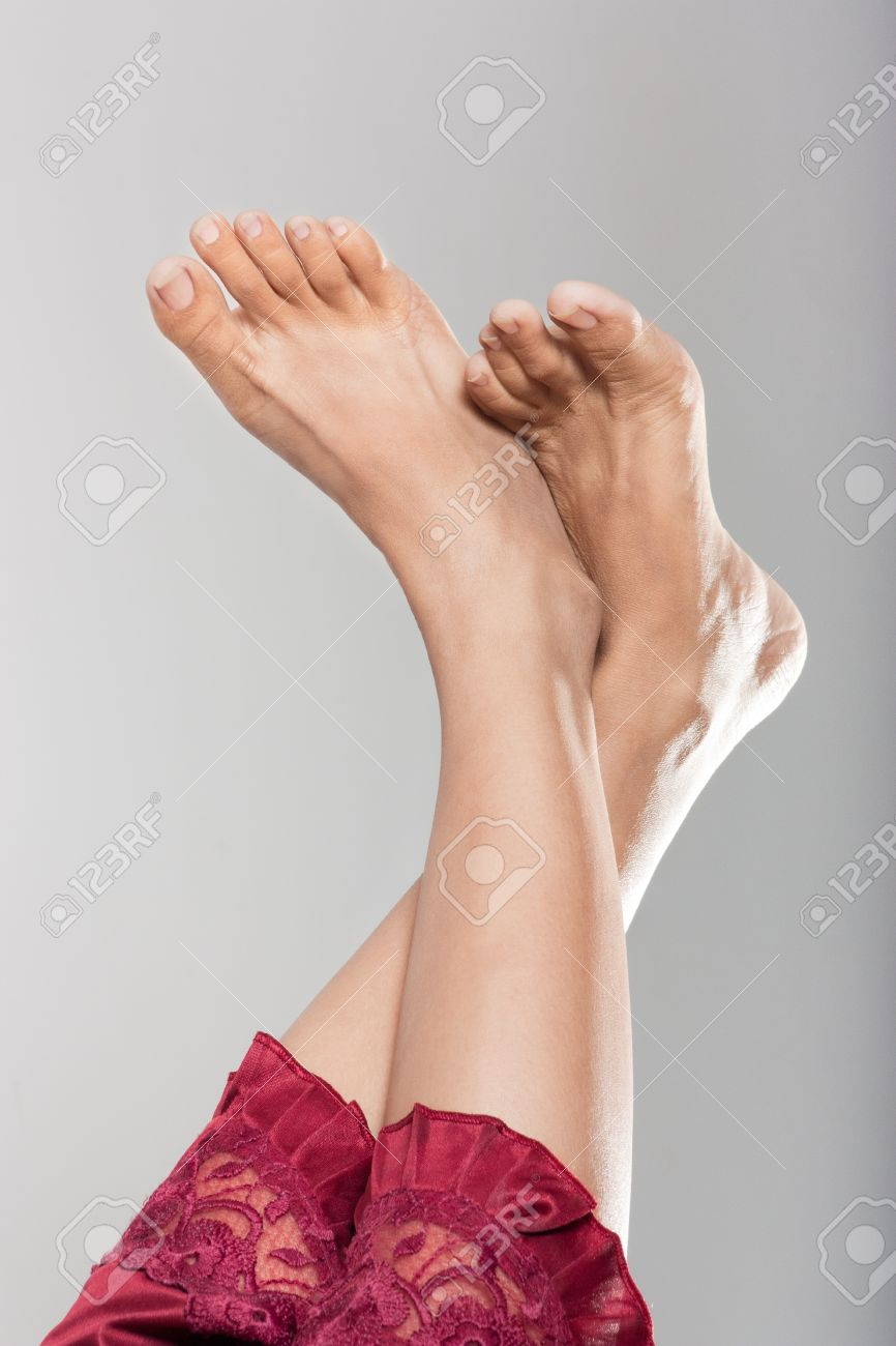 beautiful clean female feet stock photo, picture and royalty free