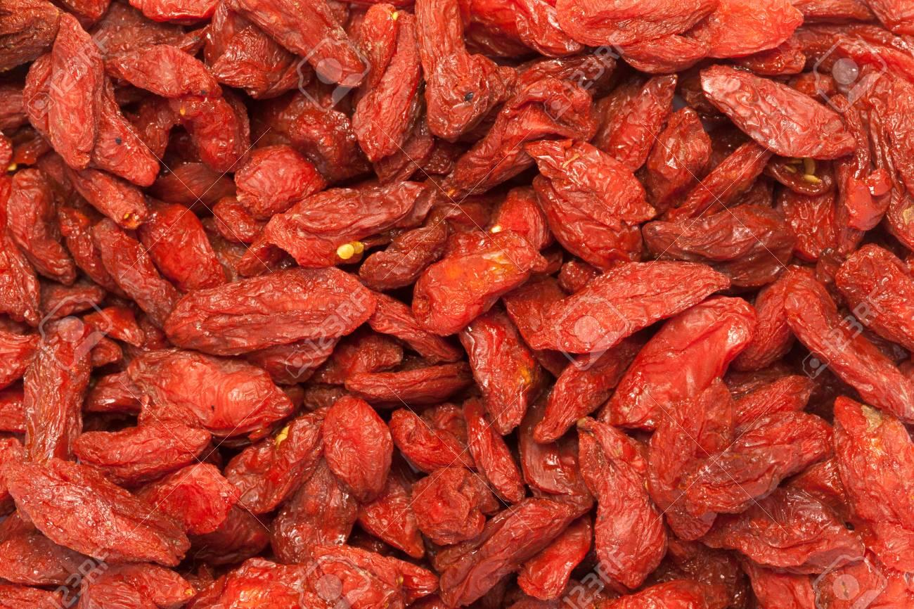 Organic Goji Berry Lycium Barbarum Stock Photo Picture And