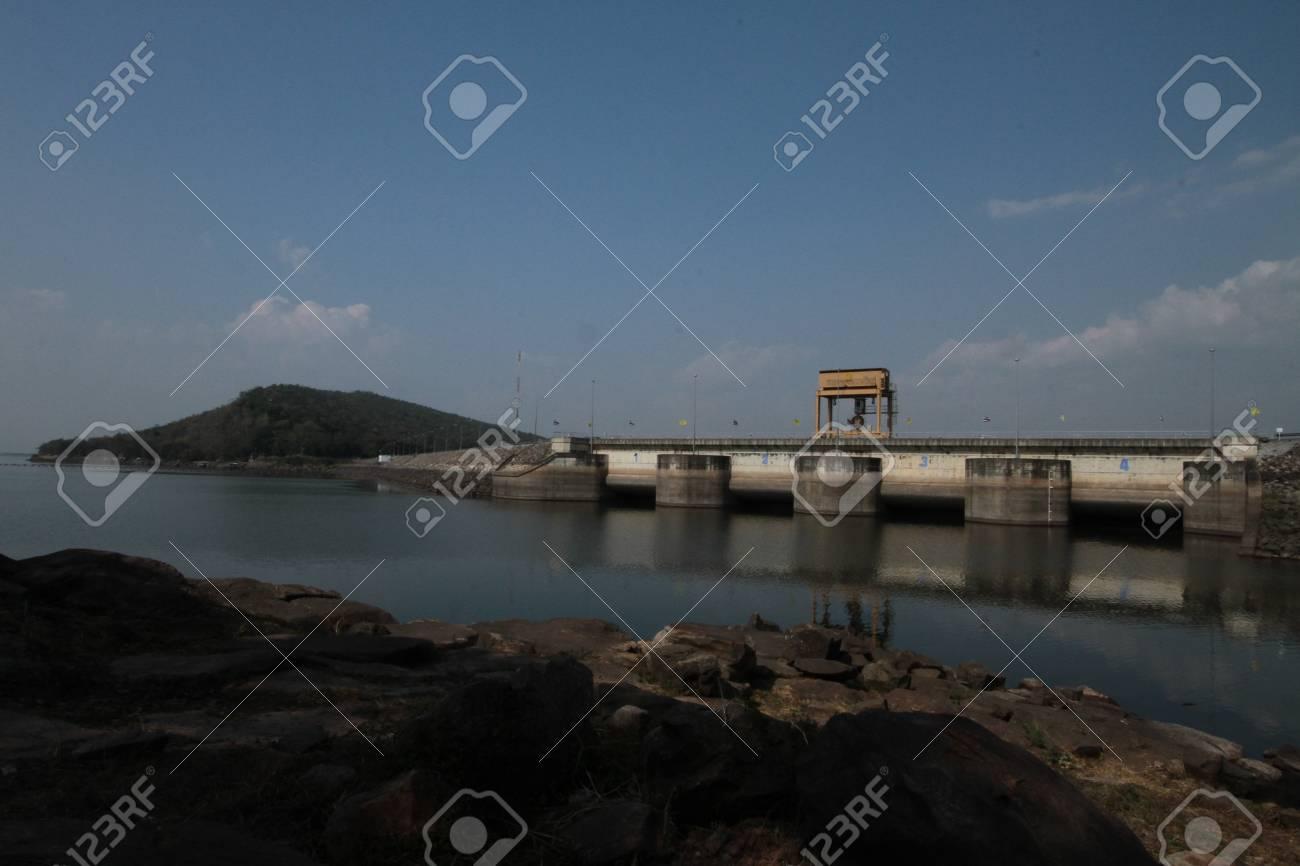 Ubonrat views of the dam  In the  Khon khaen province  Northeast of Thailand Stock Photo - 16911807