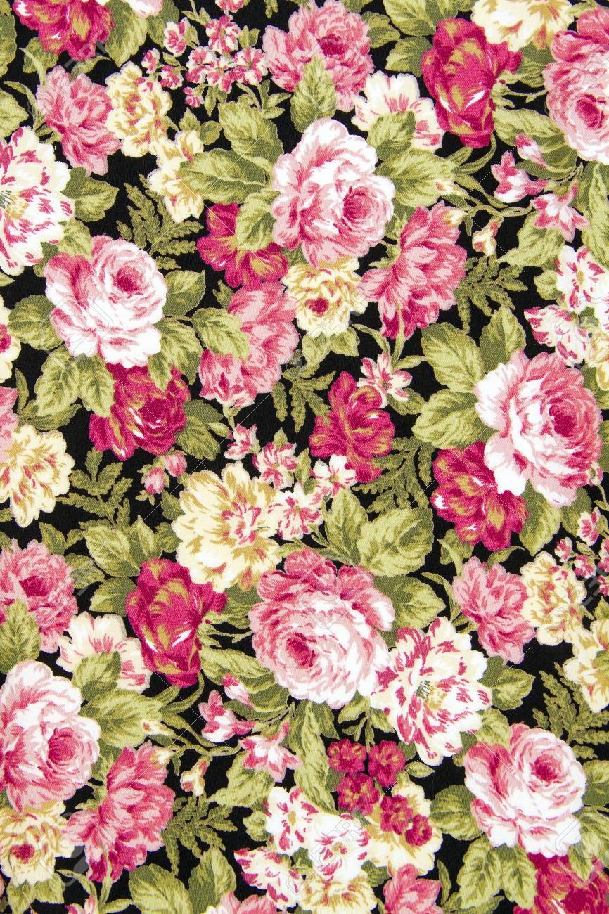 Estilo Vintage De Flores Tapiceria Tela Patron De Fondo Fotos