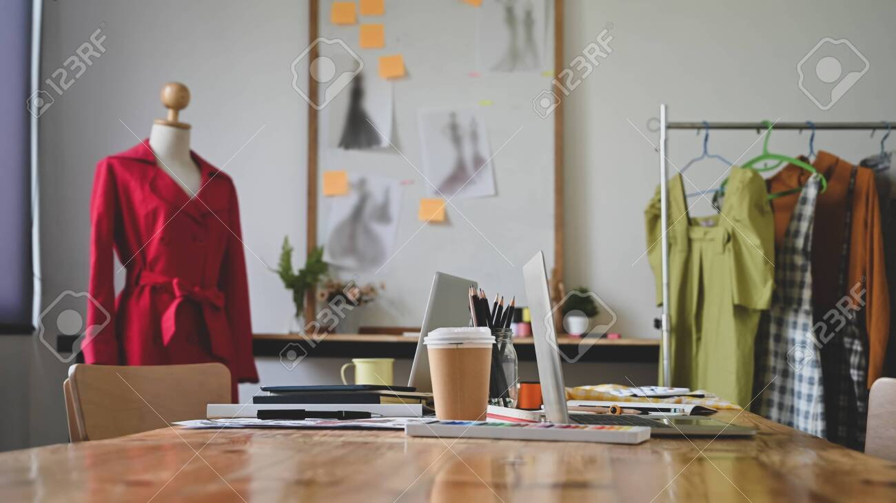 Fashion Designer Studio With Workspace Table Stock Photo Picture And Royalty Free Image Image 137316271