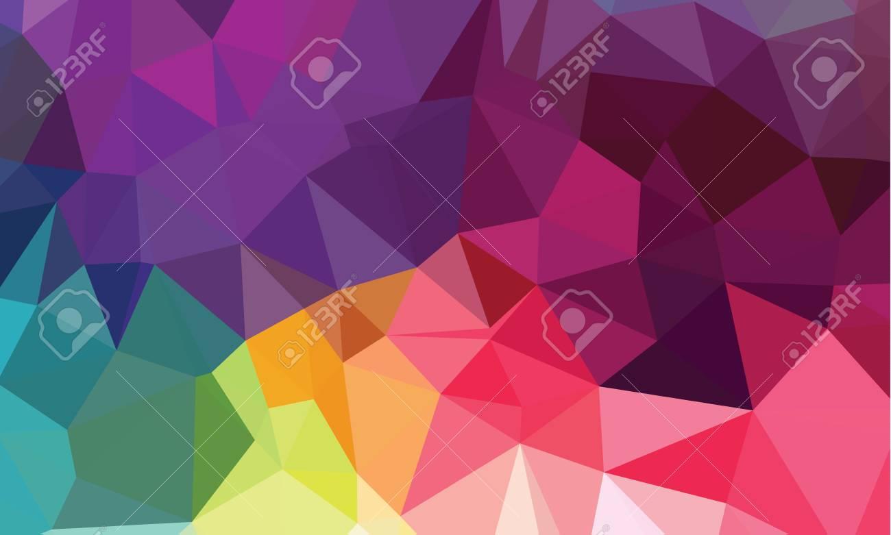 Bright geometrical polygonal vector background - 42507600