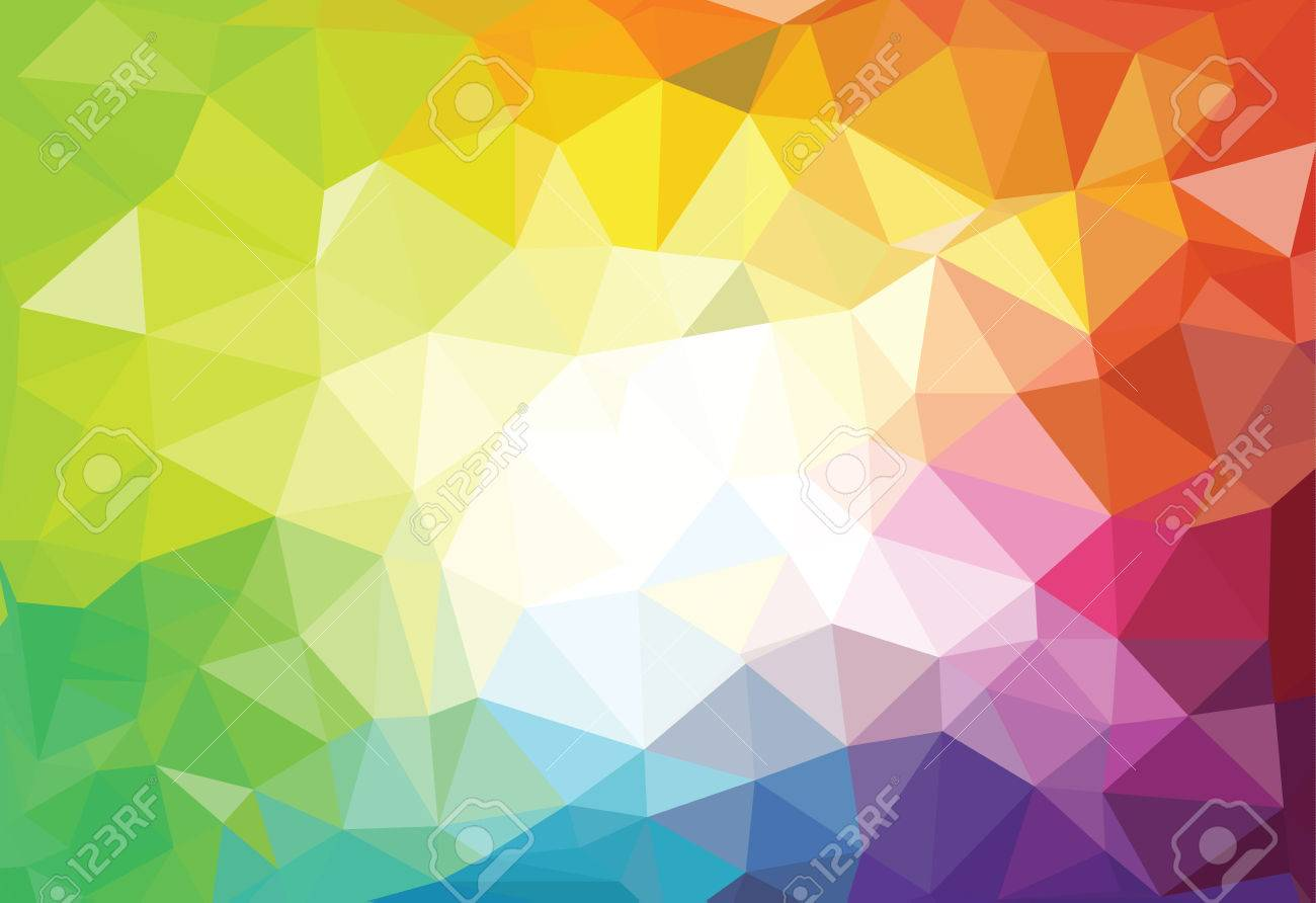 pattern of geometric shapes. Triangle mosaic backgrounds - 42531290