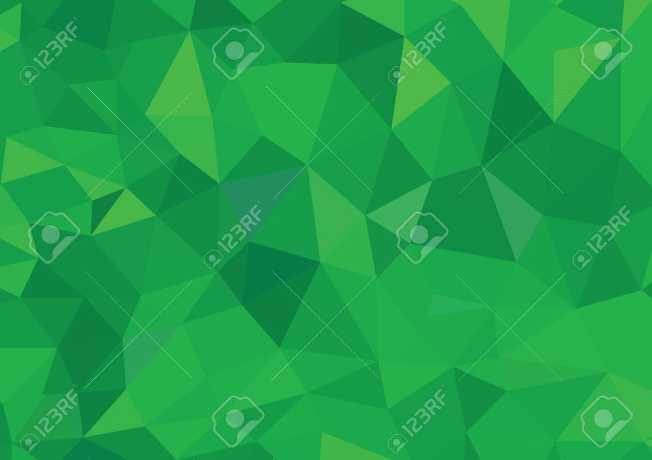 Green Polygonal Mosaic Background, Creative Design - 45314723