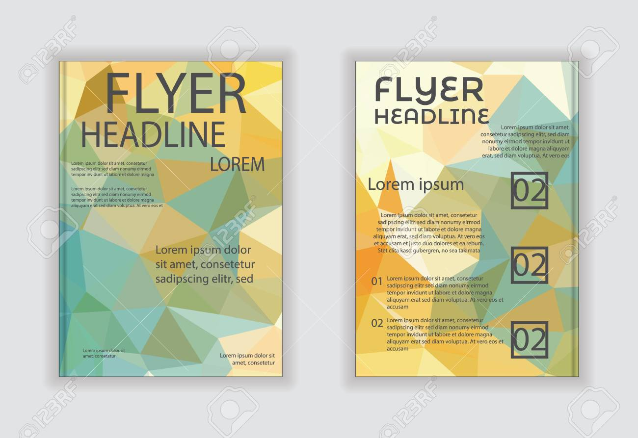 Abstract Vector Modern Flyer Brochure Design Templates With Business