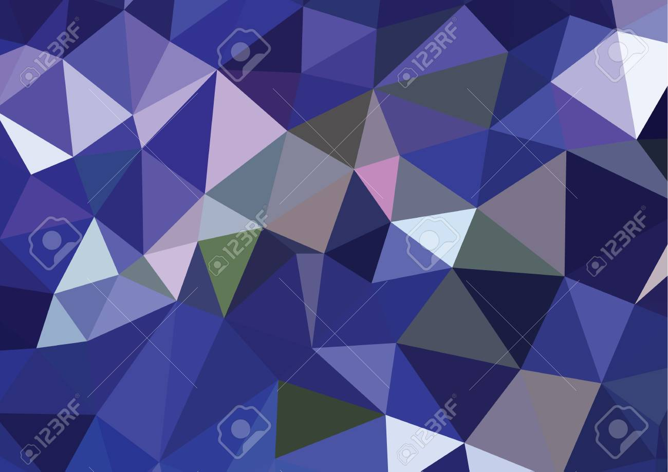 Abstract 3D geometric colorful background - 45314913