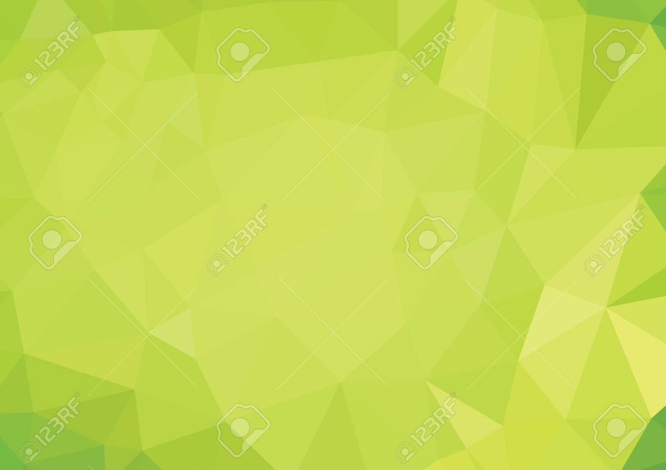 Green Polygonal Mosaic Background, Creative Design - 45315015