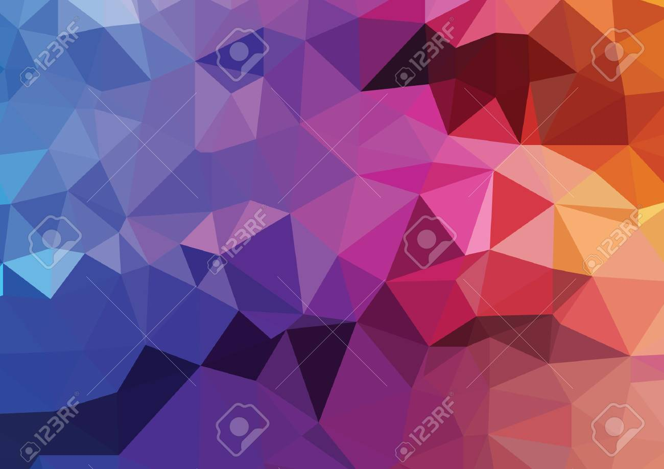Abstract colorful Polygonal Background, Vector - 45315043