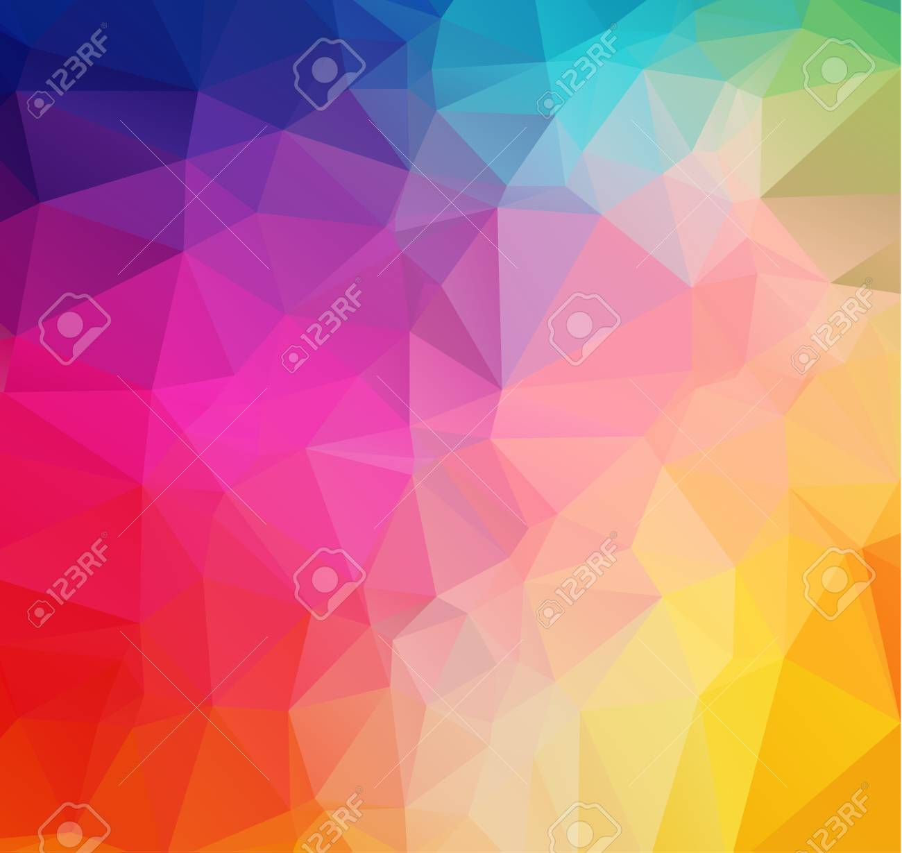Abstract colorful Triangle Geometrical Illustration Modern Design mosaic - 54855915