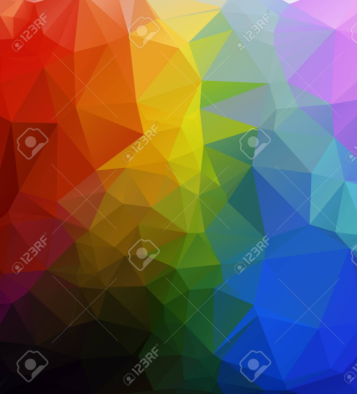 Abstract multicolor background. Vector polygonal design illustration graphic - 54856689