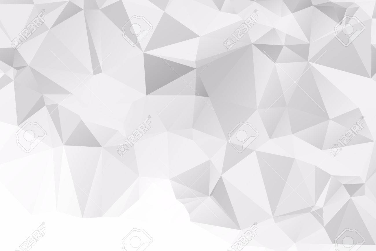 Abstract White Polygonal Background Design Templates Or Light