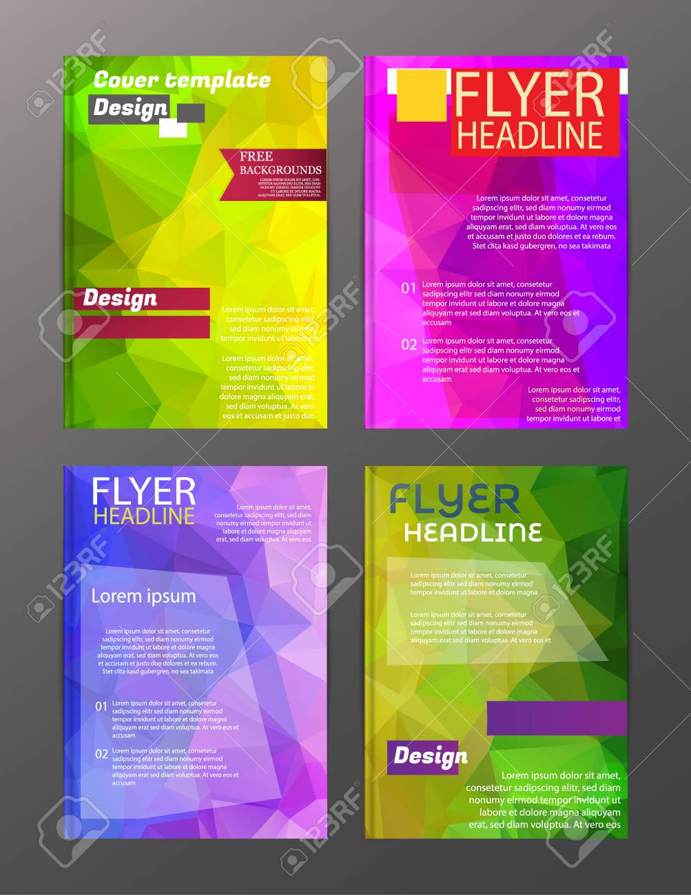 vector brochure flyer design layout templates abstract royalty free