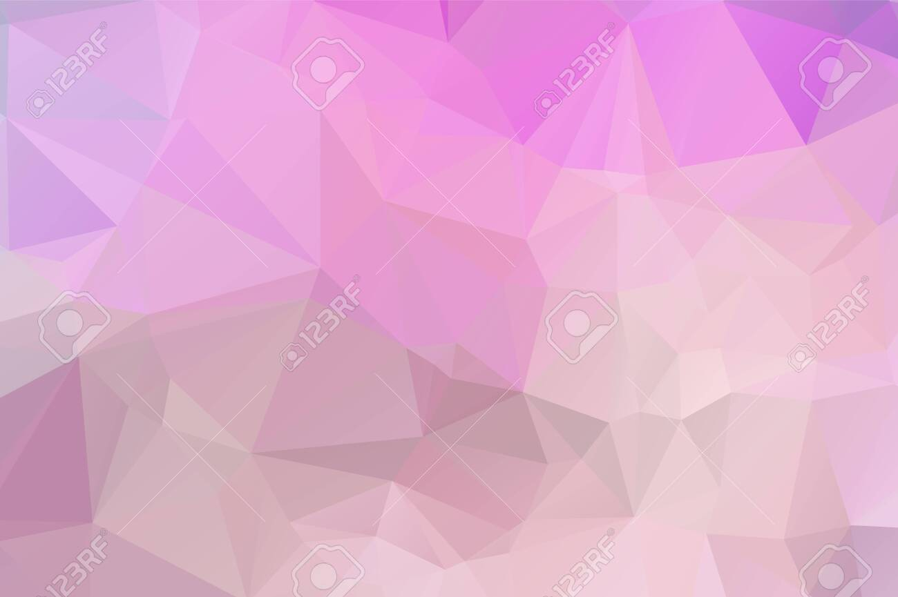 Light Pink vector modern geometric abstract background , Multicolor, Rainbow vector triangle mosaic template - 128060300