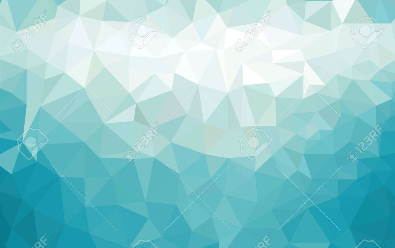 Abstract low poly background of triangles in blue colors - 129285416
