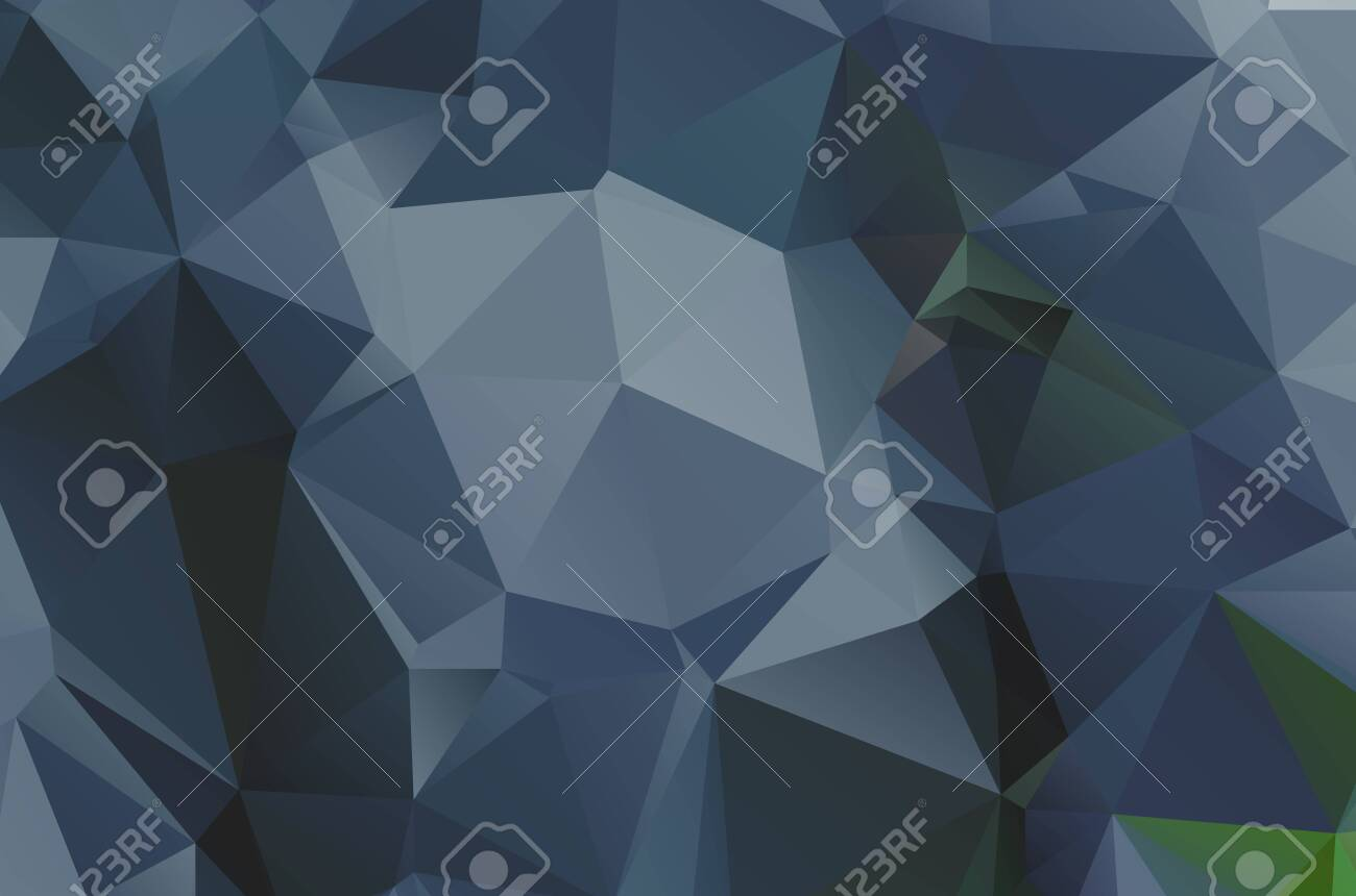 Dark low poly template Glitter abstract illustration with an elegant design esign - 143007857