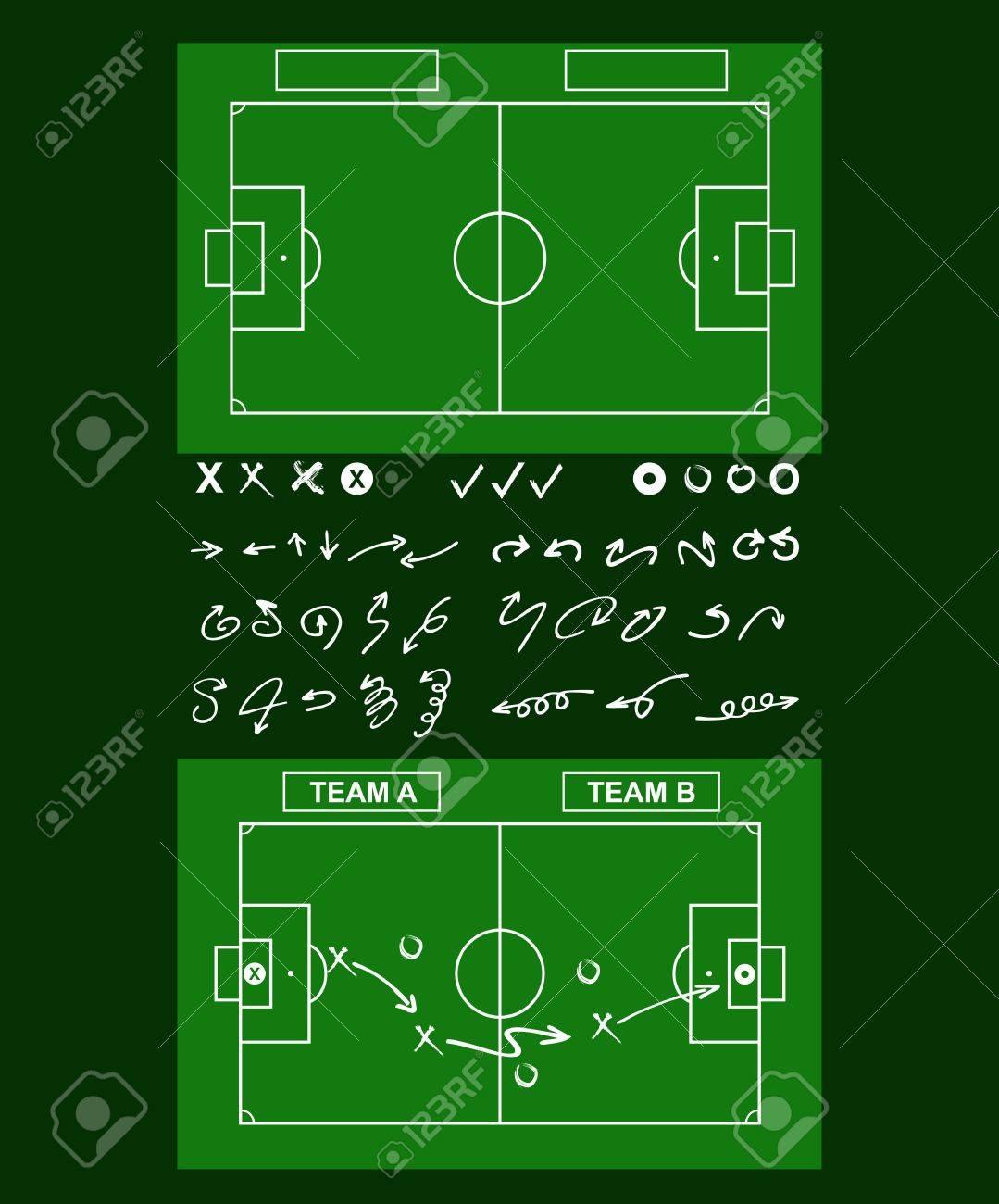Tactics diagram on a board tools of soccer tactics strategy board banco de imagens tactics diagram on a board tools of soccer tactics strategy board ccuart Gallery
