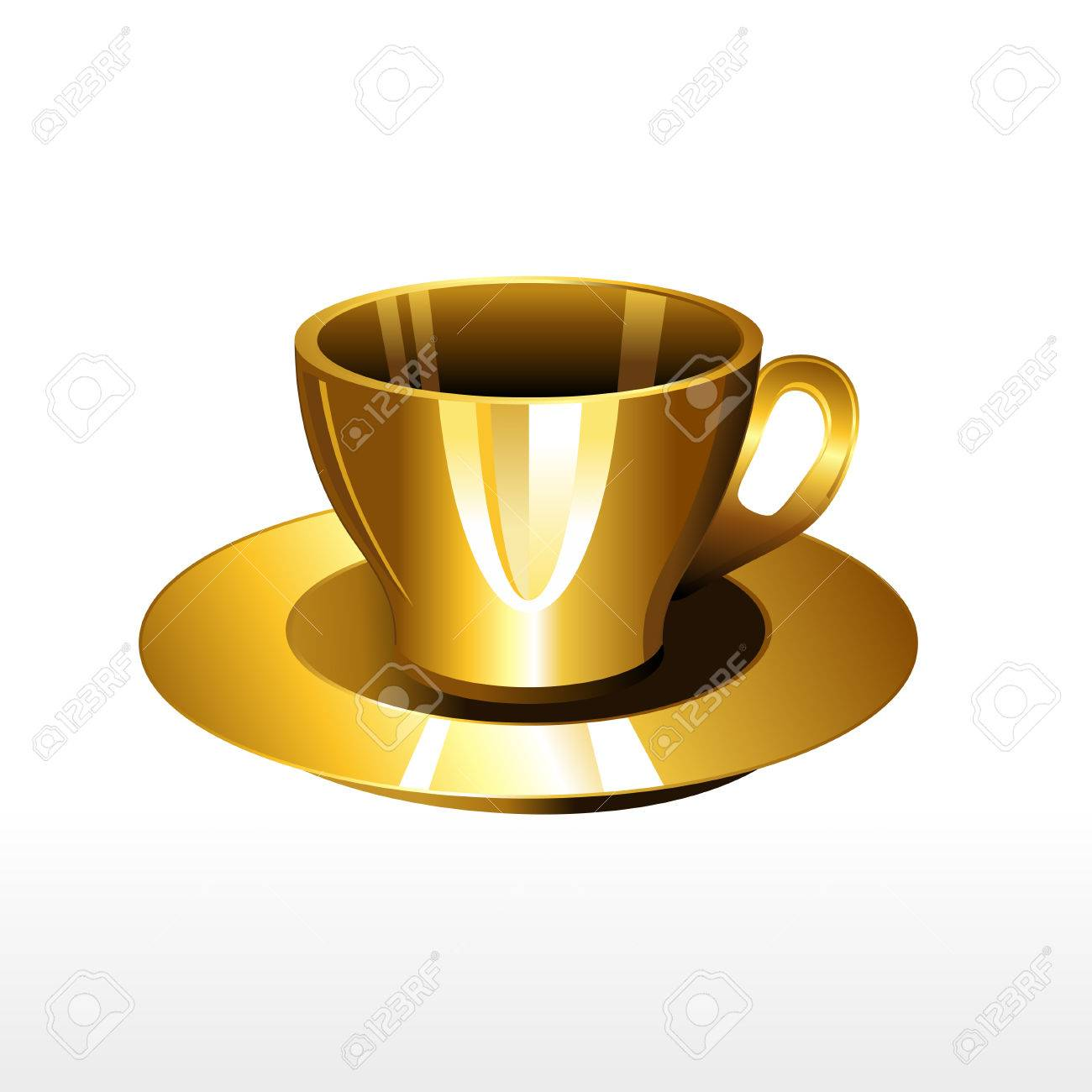 Coffee cup vector free - Golden Cup Of Coffee Illustration Gold Coffee Cup Vector Stock Vector 41620604